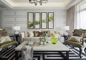 自然简欧客厅装修设计