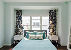 对称北欧卧室装修效果