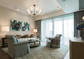 灰蓝简约客厅设计欣赏