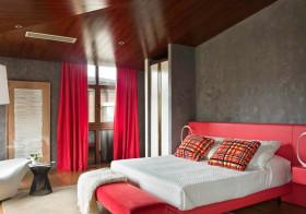 工业现代卧室设计效果