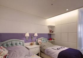 紫色系现代儿童房设计