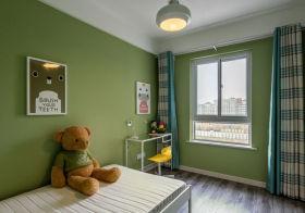 绿色清新简约儿童房欣赏