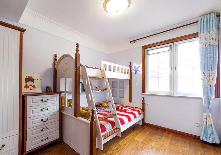 高低床简约儿童房设计