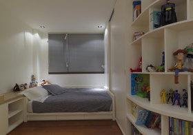 纯白简约儿童房设计