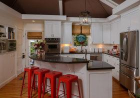 开放式简欧厨房装修设计