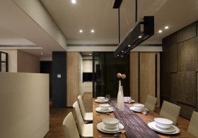 光影现代餐厅设计效果