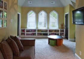黄色简约儿童房设计