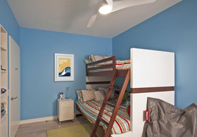 高低床现代儿童房设计