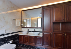 美式浴室柜设计效果图