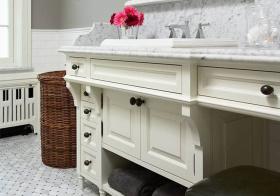 欧式白色浴室柜欣赏
