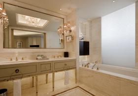 米色欧式浴室柜设计