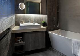 灰色现代浴室柜设计