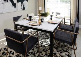 黑白经典现代餐厅设计风格