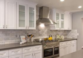 灰白欧式厨房装修实景