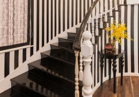 黑白简约风格楼梯装修图片