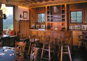 美式田园风格吧台装修图片