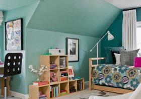 浅绿现代儿童房欣赏