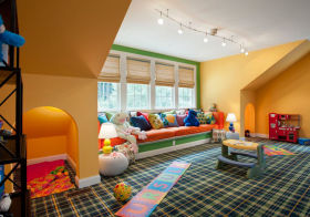 格子美式儿童房欣赏
