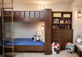 复古田园儿童房设计