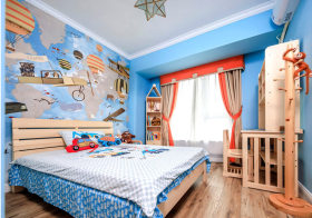 蓝色宜家儿童房设计