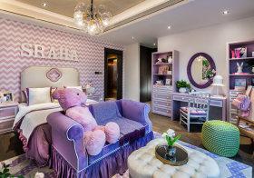 梦幻紫色欧式儿童房欣赏