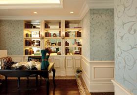 欧式书房收纳设计