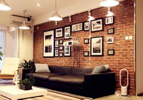 裸砖现代照片墙欣赏