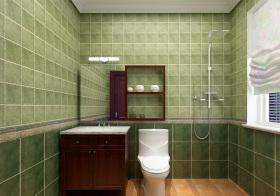 清新简约浴室柜效果图