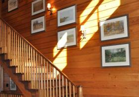 木纹现代照片墙设计