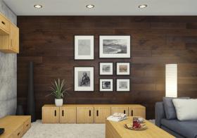 古典原木简约照片墙设计