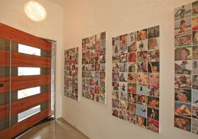 玄关简约照片墙设计