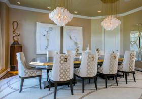 金色现代餐厅设计参考