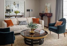 精致简约客厅设计效果