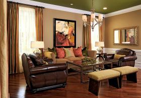 皮质美式客厅设计效果