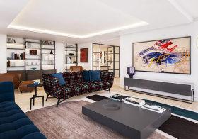 流畅简约客厅设计欣赏