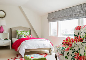 花卉简约卧室装修实拍