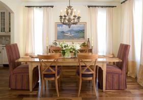 餐厅简约风窗帘设计美图