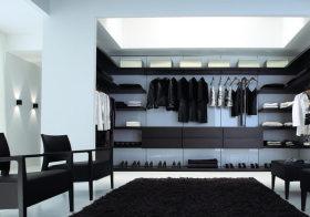 黑白极简衣帽间设计