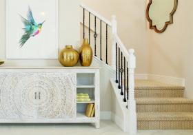 清新简欧风格楼梯装修图片