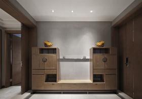 居家新中式风格鞋柜装修图片