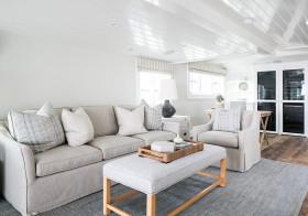 纯白北欧客厅装修设计