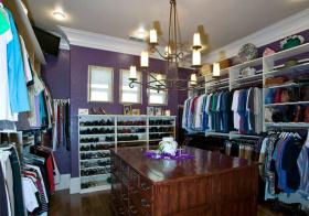 紫色美式衣帽间美图