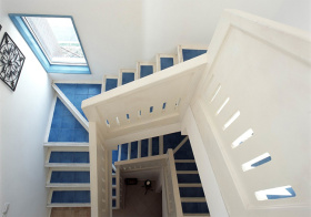 清新地中海风楼梯装修图片