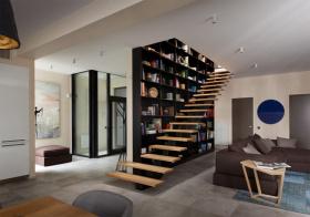 风情现代风格楼梯装修图片