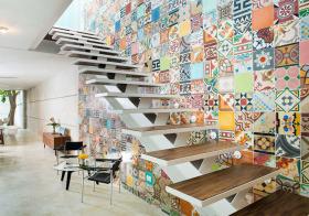 时尚活力现代风格楼梯装修图片