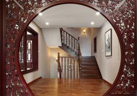 复古中式楼梯装修图片