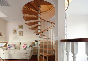 温暖美式风格楼梯装修图片
