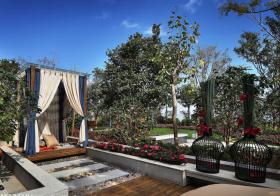 休闲现代花园设计