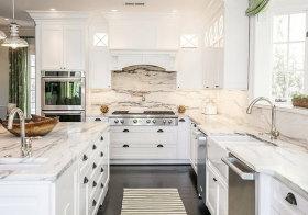 大理石欧式厨房设计参考