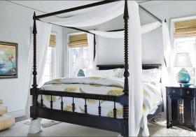 简洁东南亚卧室装修设计